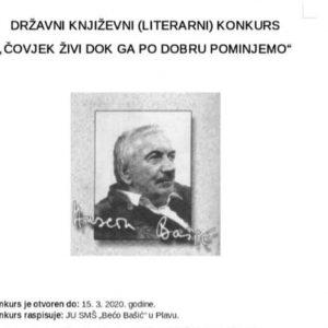 """TEODORI ČUKIĆ – PRVO MJESTO NA LITERARNOM KONKURSU """"ČOVJEK ŽIVI DOK GA PO DOBRU POMINJEMO"""""""